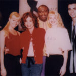 Michele and her students with Paula Abdul after our performance